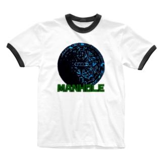 マンホール Ringer T-shirts