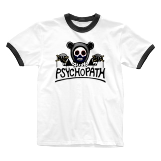 サイコパスbear Ringer T-shirts