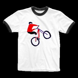 NIKORASU GOのMTBデザイン「RIDE」 Ringer T-shirts