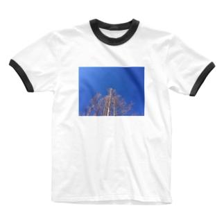 晴れた日のメタセコイア Ringer T-shirts
