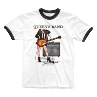 Guiter〜Queen's Band Ringer T-shirts
