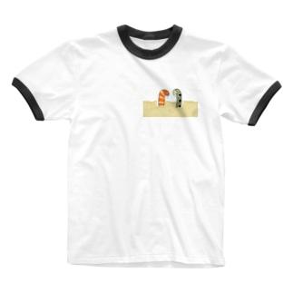 悲しみニシキアナゴとチンアナゴ Ringer T-shirts