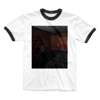 青の進路 Ringer T-shirts