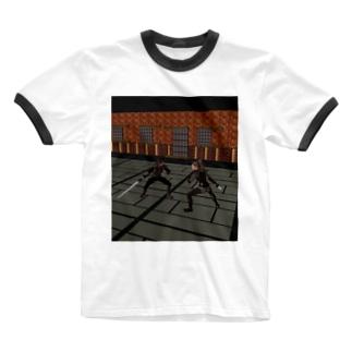 対峙乱舞 Ringer T-shirts