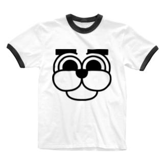 まゆげわんこ Ringer T-shirts