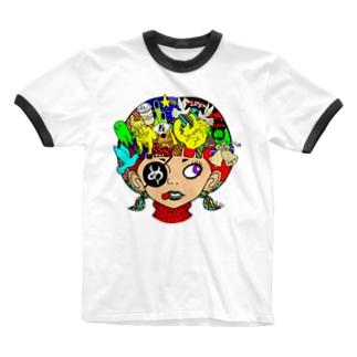 ペロンチョガール Ringer T-shirts
