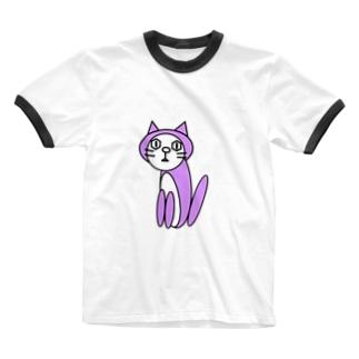 キャッツパープル Ringer T-shirts