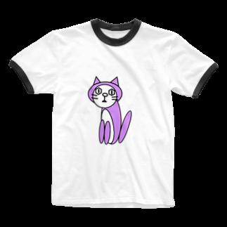 usi-festのキャッツパープル Ringer T-shirts