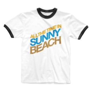 ALL THE TIME IN SUNNY BEACH Ringer T-shirts
