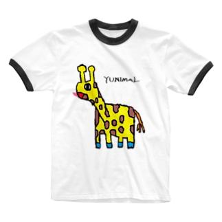 マサイキリン Ringer T-shirts