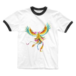 Drecome_Designの鳳凰鷲 Ringer T-shirts