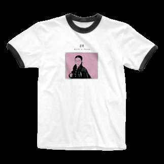 Kick a Showの接吻 Ringer T-shirts