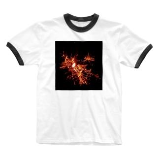 線香花火 Ringer T-shirts