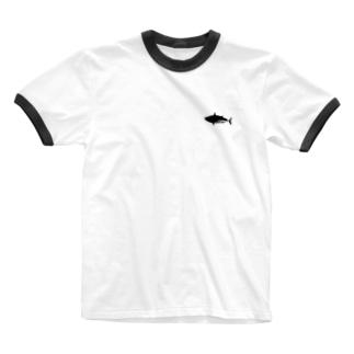 カツオ課 Ringer T-shirts
