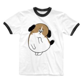 もじゃまる心配 Ringer T-shirts