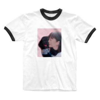 紋吉 Ringer T-shirts
