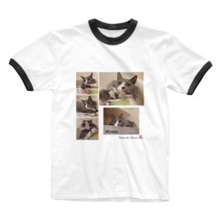 ミーさん。 Ringer T-shirts