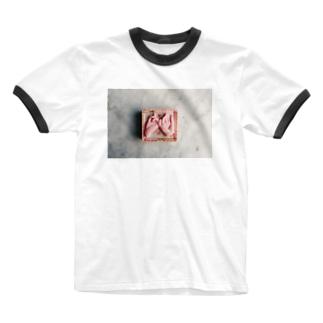 yaksok pink truth Ringer T-shirts
