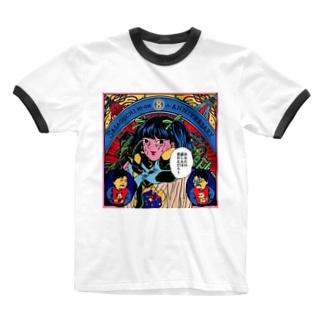 原田ちあき✖️笹口騒音8才記念 Ringer T-shirts