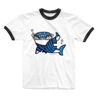 甚平ザメ Ringer T-shirts