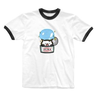 ZURA缶 Ringer T-shirts