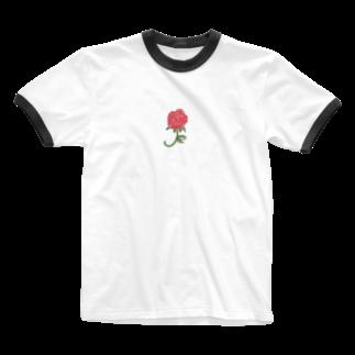 gumiのrose Ringer T-shirts