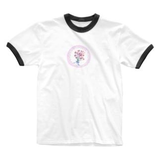 レースブーケ Ringer T-shirts