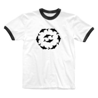 いるかあかるい Ringer T-shirts