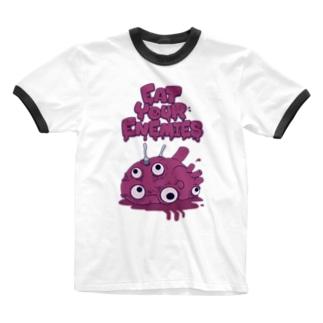 ハツ刺シ Ringer T-shirts