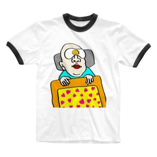 アイマスクが無いから目玉焼き乗せる人 Ringer T-shirts