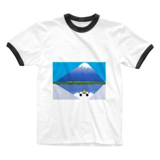 あおいふじ Ringer T-shirts