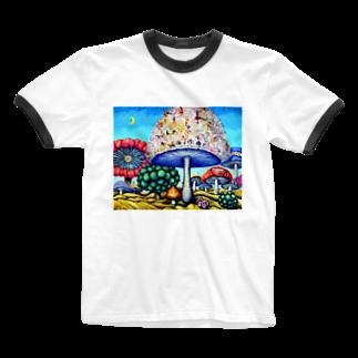 A・T   shopのparallel world No.24 -偉大なる挑戦- Ringer T-shirts