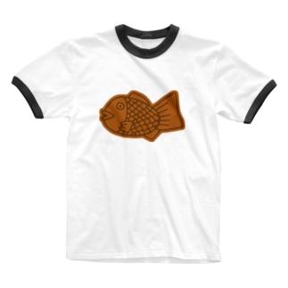 たい焼き Ringer T-shirts