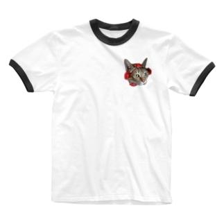はなまる Ringer T-shirts