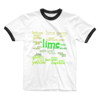 色見本 グリーン vol.4 Ringer T-shirts
