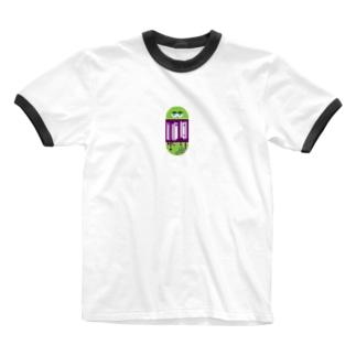 スライミーボール Ringer T-shirts