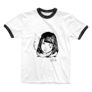 まうまう×かざあな Ringer T-shirts