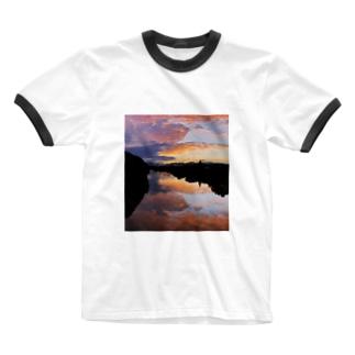 IRUMA_River TOYOMIZU Ringer T-shirts