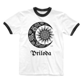 pri logo Ringer T-shirts