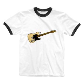 テレキャスターとおすまし文鳥 Ringer T-shirts