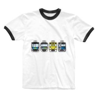 西武線4兄弟 Ringer T-shirts