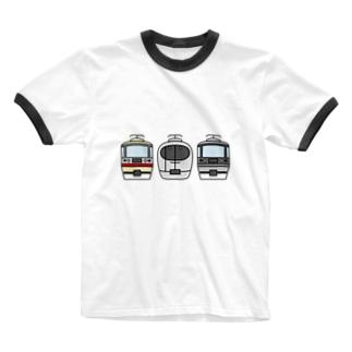 西武線特急3兄弟 Ringer T-shirts