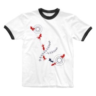 金魚01 Ringer T-shirts