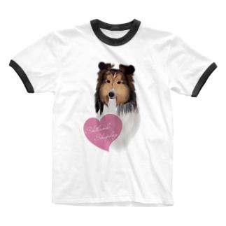 Shetland Sheepdog(シェルティ) Ringer T-shirts