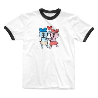 ねんたん&ねみこちゃん Ringer T-shirts