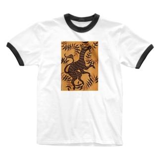 けもの Ringer T-shirts