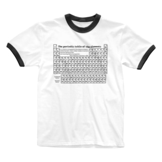 元素周期表(原子番号順):化学:学問・科学 Ringer T-shirts