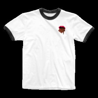 イマムラ屋さんのチョコレート食べたいの Ringer T-shirts