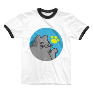 みゃ~ご Ringer T-shirts