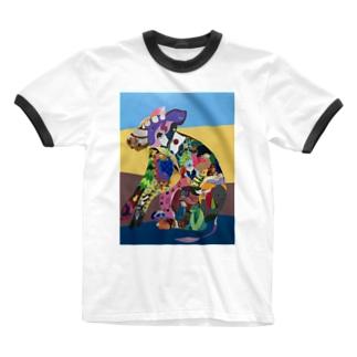 のっち Ringer T-shirts